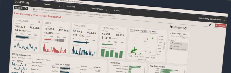 BusinessQ 16 visualize dashboard v2