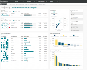 BusinessQ 16 Sales Performance Overview Dashboard