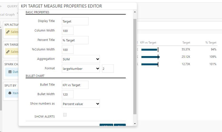 KPI Matrix target measure