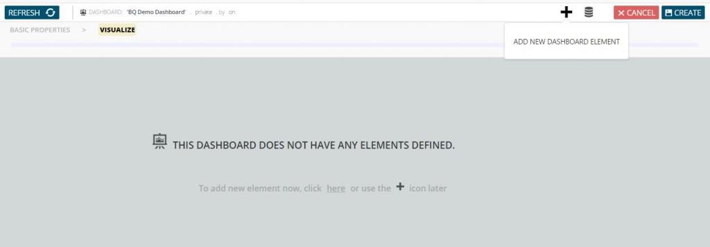 Dashboard start - add element