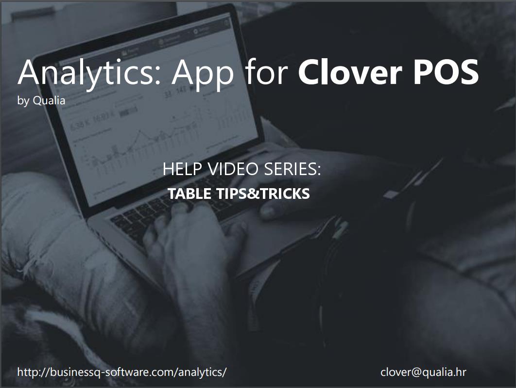 Analytics App Help Video Series – Tips&Tricks: Tables