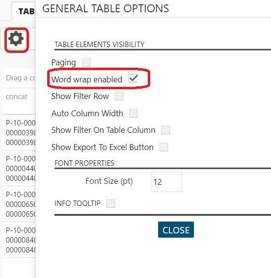 Businessq v17 2 qualia businessq software for Table th word wrap