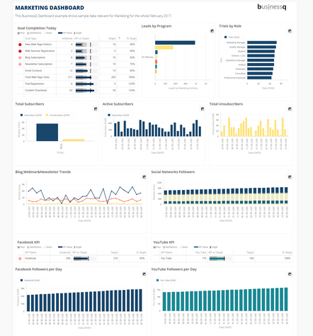 Marketing Dashboard In BusinessQ