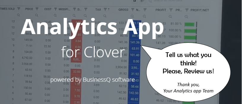 Review Analytics | BusinessQ App On The Clover App Market